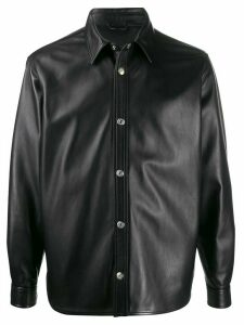 Acne Studios leather overshirt - Black