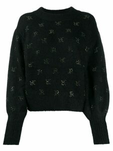 John Richmond Gibson studded-logo jumper - Black
