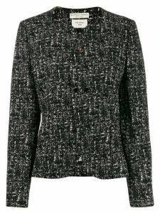 Bottega Veneta fitted tweed blazer - Black