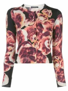 Samantha Sung distorted print cardigan - Black