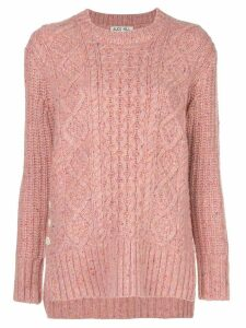 Alex Mill Donegal cable-knit jumper - PINK