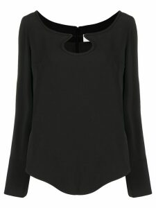 Courrèges cut-out detail blouse - Black