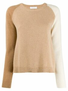 Majestic Filatures panelled raglan-sleeves jumper - NEUTRALS