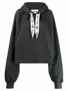 Reebok By Pyer Moss x Pyer Moss oversized hoodie - Grey