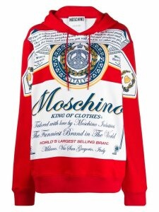 Moschino oversized King of Clothes hoodie - Red