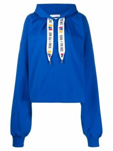 Reebok By Pyer Moss HOODIED SWEATSHIRT - Blue