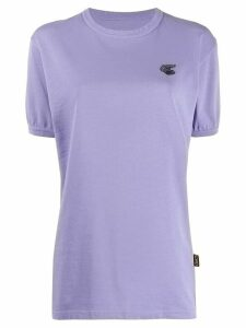 Vivienne Westwood Anglomania Badge embroidered logo T-shirt - PURPLE