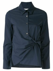 PortsPURE knotted button-up shirt - Blue