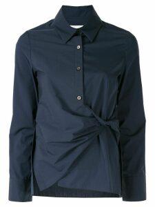 PortsPURE knotted button-up shirt - Blue