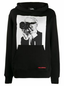Karl Lagerfeld Karl Legend photographer hoodie - Black