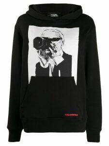 Karl Lagerfeld Karl Legend photographer hoodie - Black