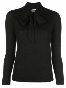 Co Jessica tie-neck cashmere jumper - Black