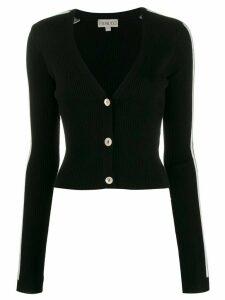 Fiorucci knitted logo cardigan - Black