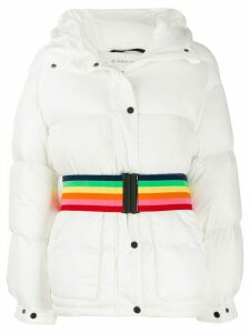 Perfect Moment oversized hooded down jacket - White