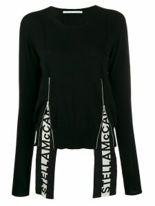 Stella McCartney logo insert long-sleeve jumper - Black