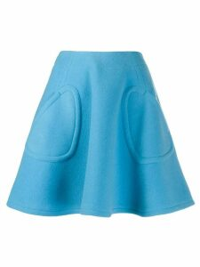 Courrèges high-waist A-line skirt - Blue