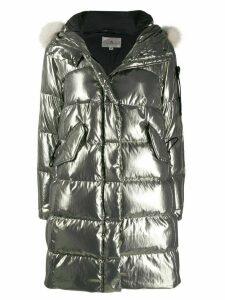 Peuterey metallic padded coat - SILVER