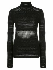 Dorothee Schumacher contrast pattern sheer panel jumper - Black