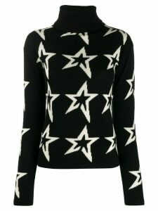 Perfect Moment star intarsia slim-fit jumper - Black