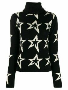 Perfect Moment star intarsia slim-fit jumper - Black