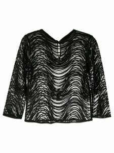 Emporio Armani sheer sequin blouse - Black
