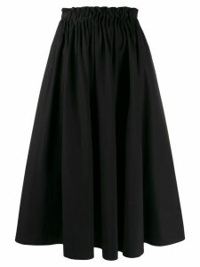 Marni pleated a-lined skirt - Black
