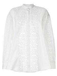 Giambattista Valli appliqué band-collar shirt - White
