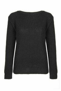 Black Knitted Long Sleeve Jumper