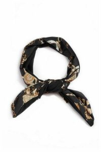 Black Scarf Print Headband