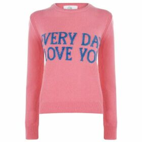 Alberta Ferretti Every Day I Love You Knitted Jumper