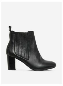 Womens Black 'Oz' Leather Chelsea Leather Boots, Black