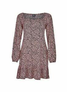 Womens Lola Skye Pink Heart Print Dress, Pink