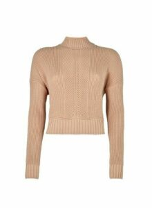Womens Lola Skye Blush Crop Jumper - Pink, Pink