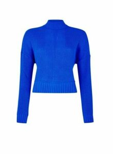 Womens **Lola Skye Cobalt Crop Jumper- Blue, Blue