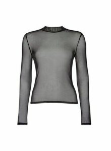 Womens **Lola Skye Black Mesh Top, Black