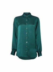 Womens Green Longline Shirt, Green