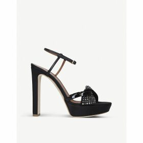 Lauren crystal-embellished satin sandals