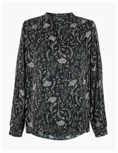 M&S Collection Satin Floral Print Blouse