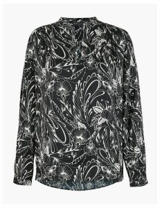 M&S Collection Floral Popover Blouse