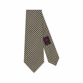 Crest underknot houndstooth tie