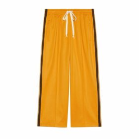Technical jersey cropped track bottoms