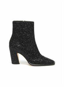 'Mavin 85' crystal trim glitter ankle boots