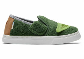 Star Wars Yoda Terry Cloth Tiny TOMS Luca Slip-Ons Shoes - Size UK8