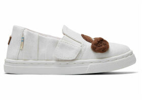 Star Wars Princess Leia Jersey Tiny TOMS Luca Slip-Ons Shoes - Size UK3