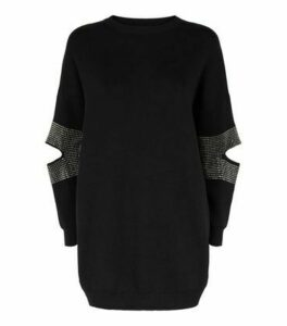 Blue Vanilla Black Gem Longline Jumper New Look