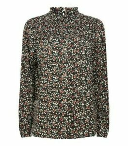 JDY Black Ditsy Floral Blouse New Look