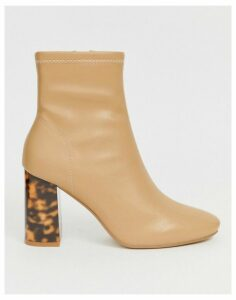 Head Over Heels Omer heeled ankle boots in camel-Beige
