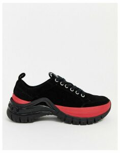Calvin Klein Tisha cleated chunky chunky trainers in black