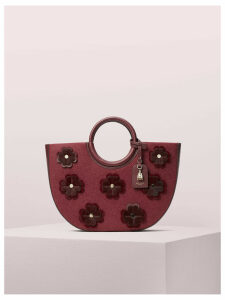 On Purpose Floral Appliqué Circle Tote - Cherrywood - One Size