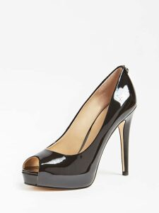 Guess Hadie Patent-Look Court Shoe